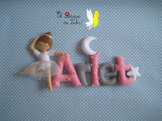 nombre-fieltro-Arlet-elbosquedelulu-regalos-personalizados-name-banner-felt-feltro-babyroom-decoración-infantil