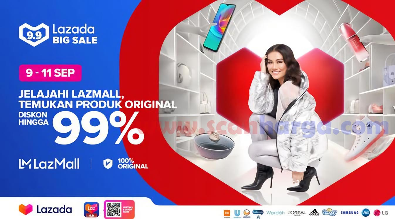 Promo Lazada 9.9 BIG SALE* Diskon Hingga 99% Periode 9 - 11 September 2020