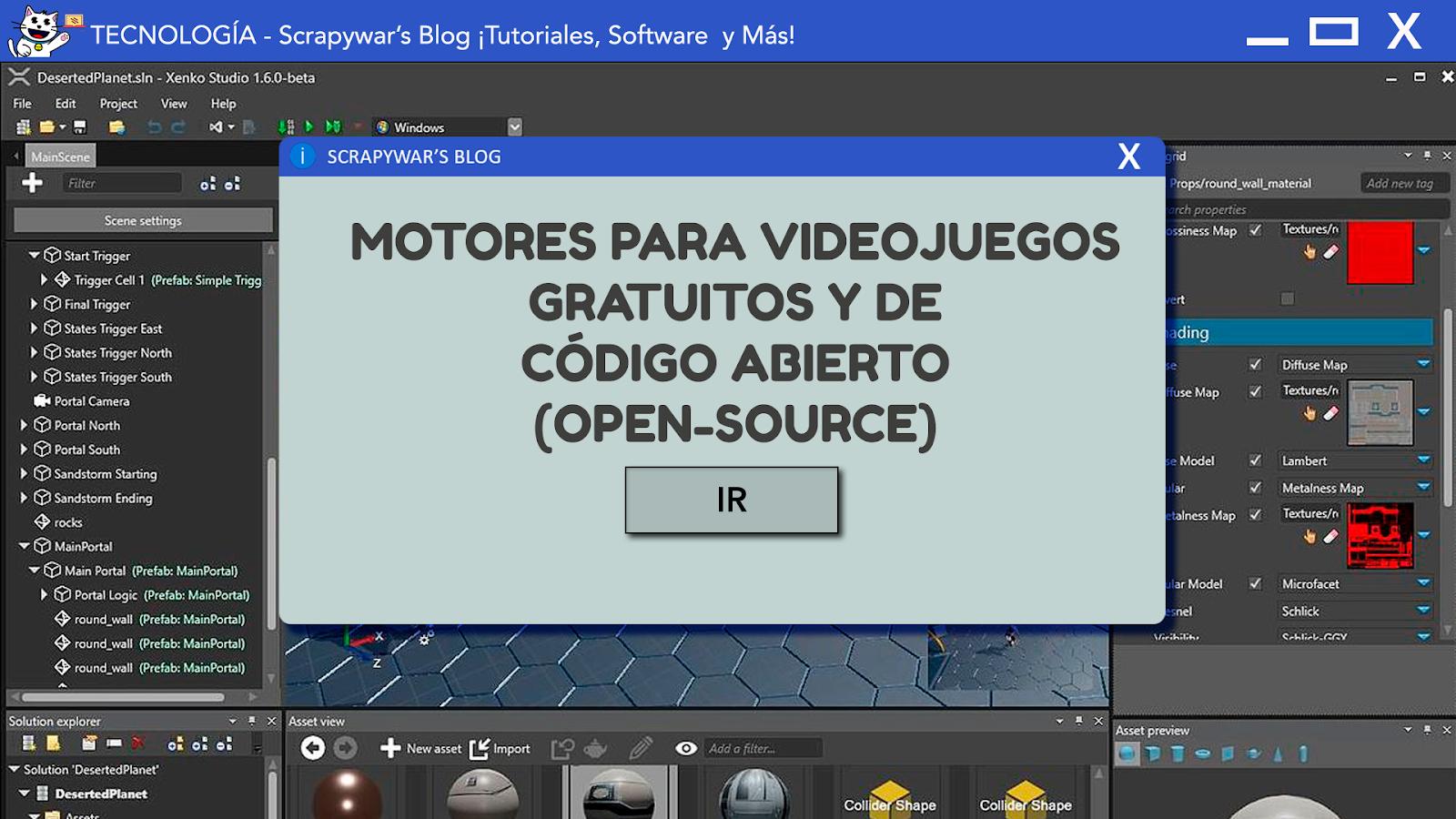 4 Motores para videojuegos gratuitos y open-source