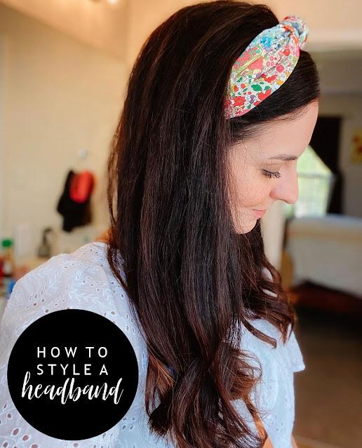style on a budget, how to style a headband, mom style, nc blogger, how to wear a headband, north carolina blogger