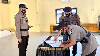 Kapolres Pimpin Upacara Pengukuhan Jabatan Kabag Ren Polres Luwu Utara