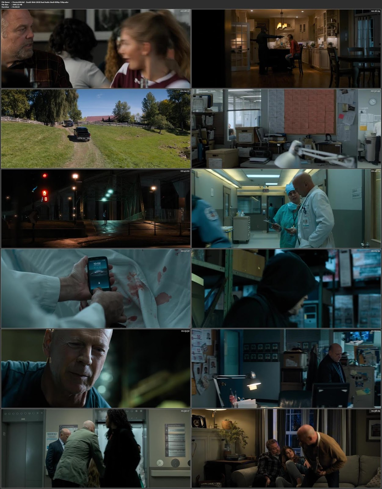 Death Wish 2018 Dual Audio Hindi HDRip 720p 900MB