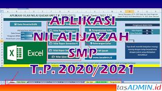Aplikasi Nilai Ijazah SMP Tahun 2021 Excel