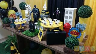 Decoração festa infantil Batman