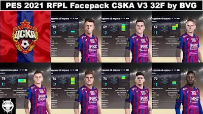 PES 2021 RFPL Facepack CSKA Moskva V3 32F by BVG