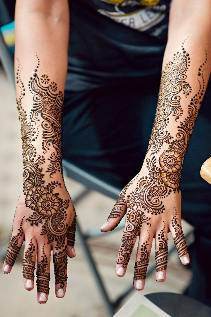 Henna Mehndi Tattoo Designs Idea For Wrist: Elegant EID Mehndi Designs Vol-7