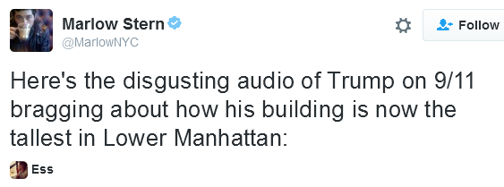Listen: After 9/11, Donald Trump bragged about his building now being the tallest in Lower Manhattan