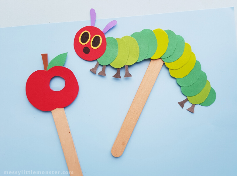 The Very Hungry Caterpillar Puppet Craft
