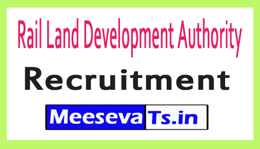 Rail Land Development Authority RLDA Recruitment