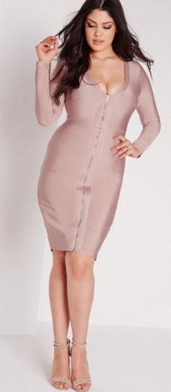 Bandage Midi Dress Missguided