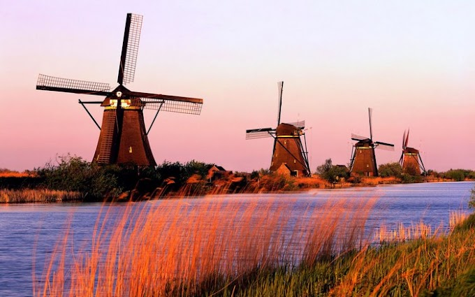 Windmills at Kinderdijk, Holland