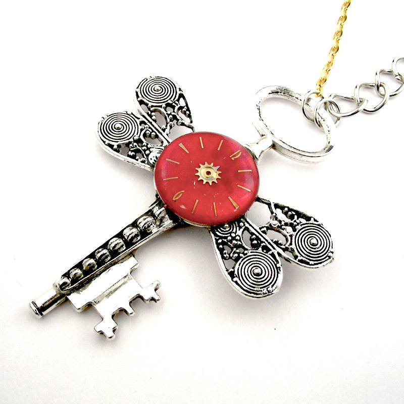 11-Dragonfly-Skeleton-Key-Necklace-Nicholas-Hrabowski-Steampunk-Jewelry-from-Recycled-Watches-and-Bullets-www-designstack-co