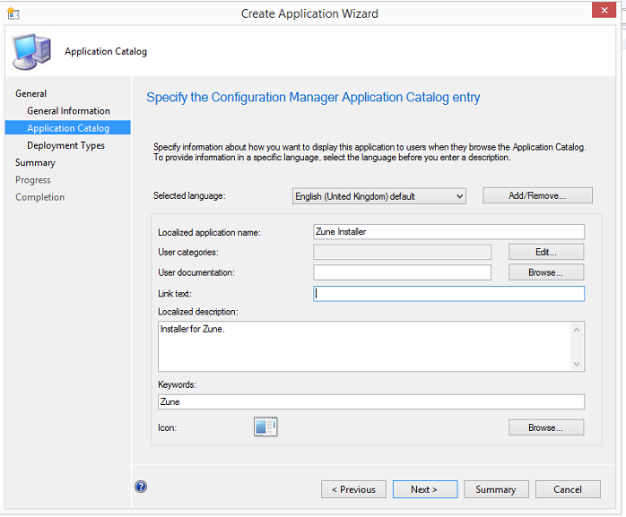 Zune - Add to your Configuration Manager 2012 Software Catalog 4