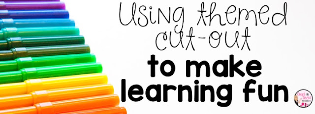 Using themed cut out to make learning fun for the Kindergarten classroom