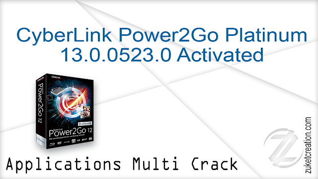 CyberLink Power2Go Platinum 13.0.0523.0 Activated   |   229 MB