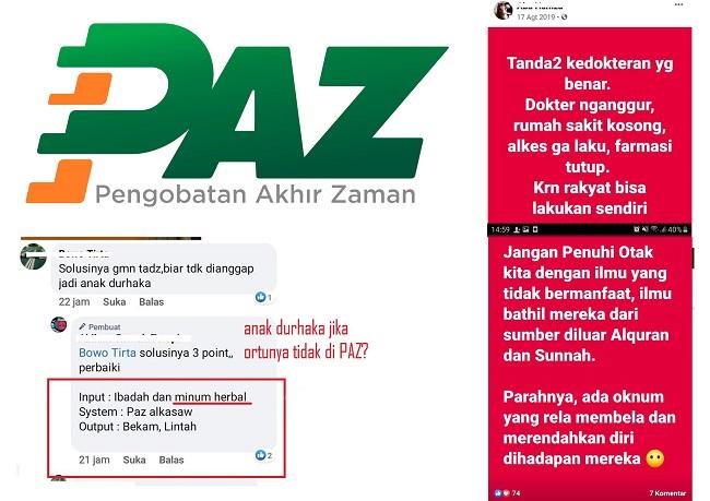 PAZ Al Kasaw Jelekkan Tenaga Medis dan Sebut Durhaka Bila Tak Terapi Lintah
