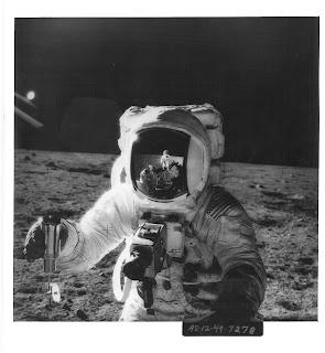 Photo of astronaut on Moon