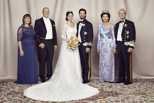 The Wedding Dress Of Sofia Sweden In All Its Glory One Official Photographs
