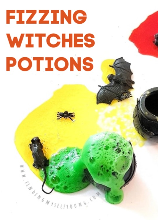 fizzing witches potion halloween science experiment for kids