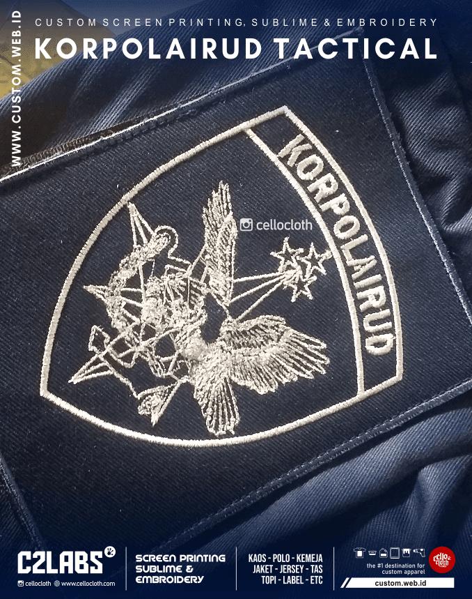 KORPOLAIRUD Tactical Kemeja Jacket Custom Bordir Konveksi Jogja