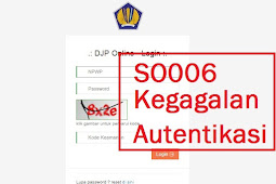 Login DJPOnline Error SO006 Kegagalan Autentikasi