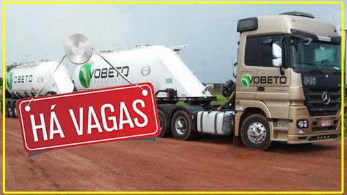 Transportadora Vobeto abre processo seletivo para Motorista