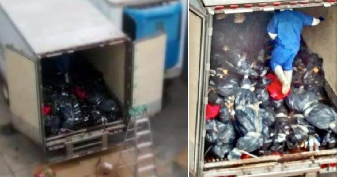 """""""De las bolsas salían líquidos de cómo los trataban; los cuerpos están ya muy mal"""", revela chofer"""