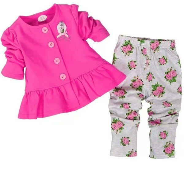 Pink Roses English Style 2 Pieces Set