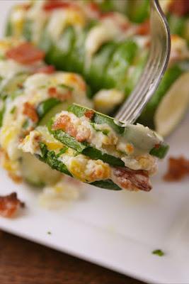 ★★★★★ | Jalapeño Popper Stuffed Zucchini