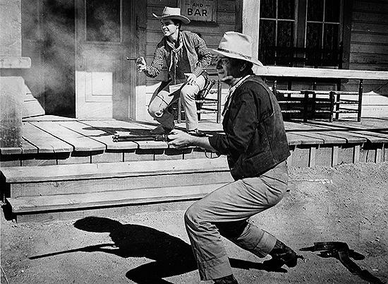 Ricky Nelson y John Wayne