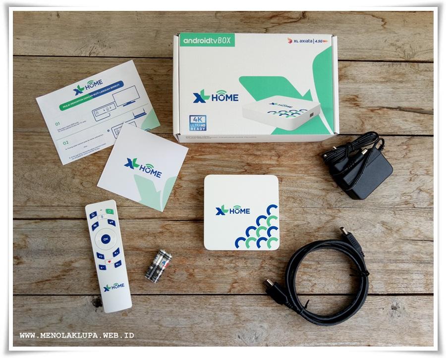 XL Home Pow internet kencang dan Android TV Box