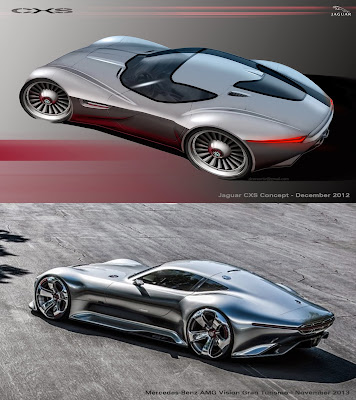 jaguar cxs concept vs mercedes benz amg vision gran. Black Bedroom Furniture Sets. Home Design Ideas