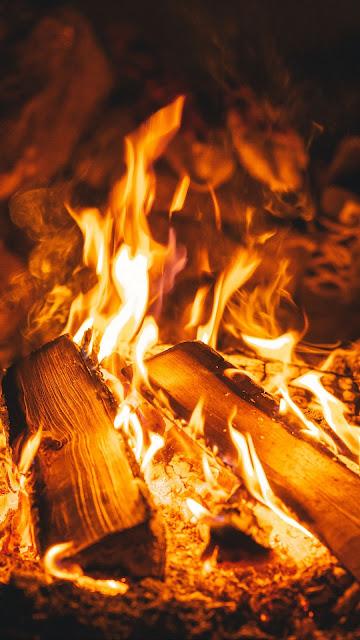 HD wallpaper wood, fire, fire, flame
