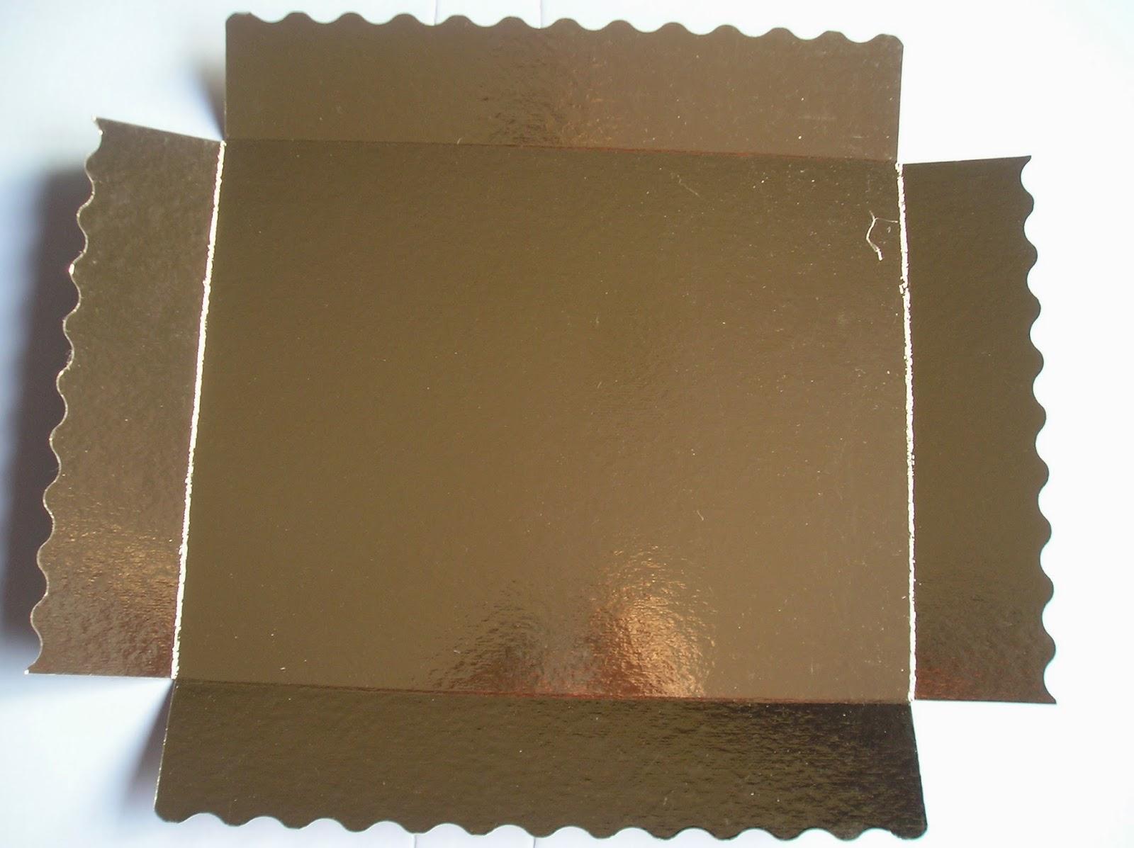 bandeja oro con tapa, se convierte en caja