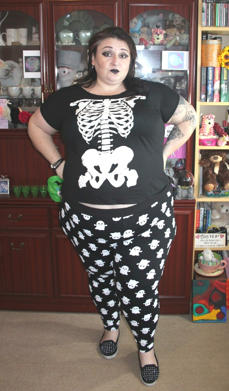 Plus size ghost leggings