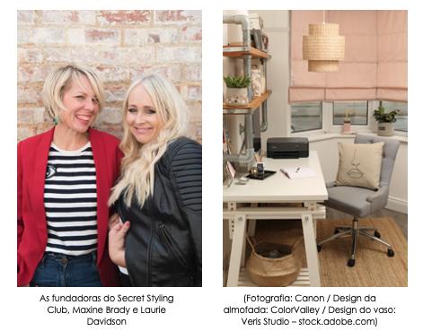 Crie um espaço de trabalho em casa mais sofisticado com a Canon e o Secret Styling Club