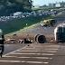 Acidente com 4 carros e caminhão com gasolina interditou a Rodovia Anhanguera