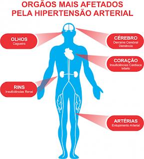 Hipertensão Arterial, orgãos mais afetados com a hipertensão, pressão alta, artérias, cegueira