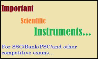 List of important Scientific Instruments