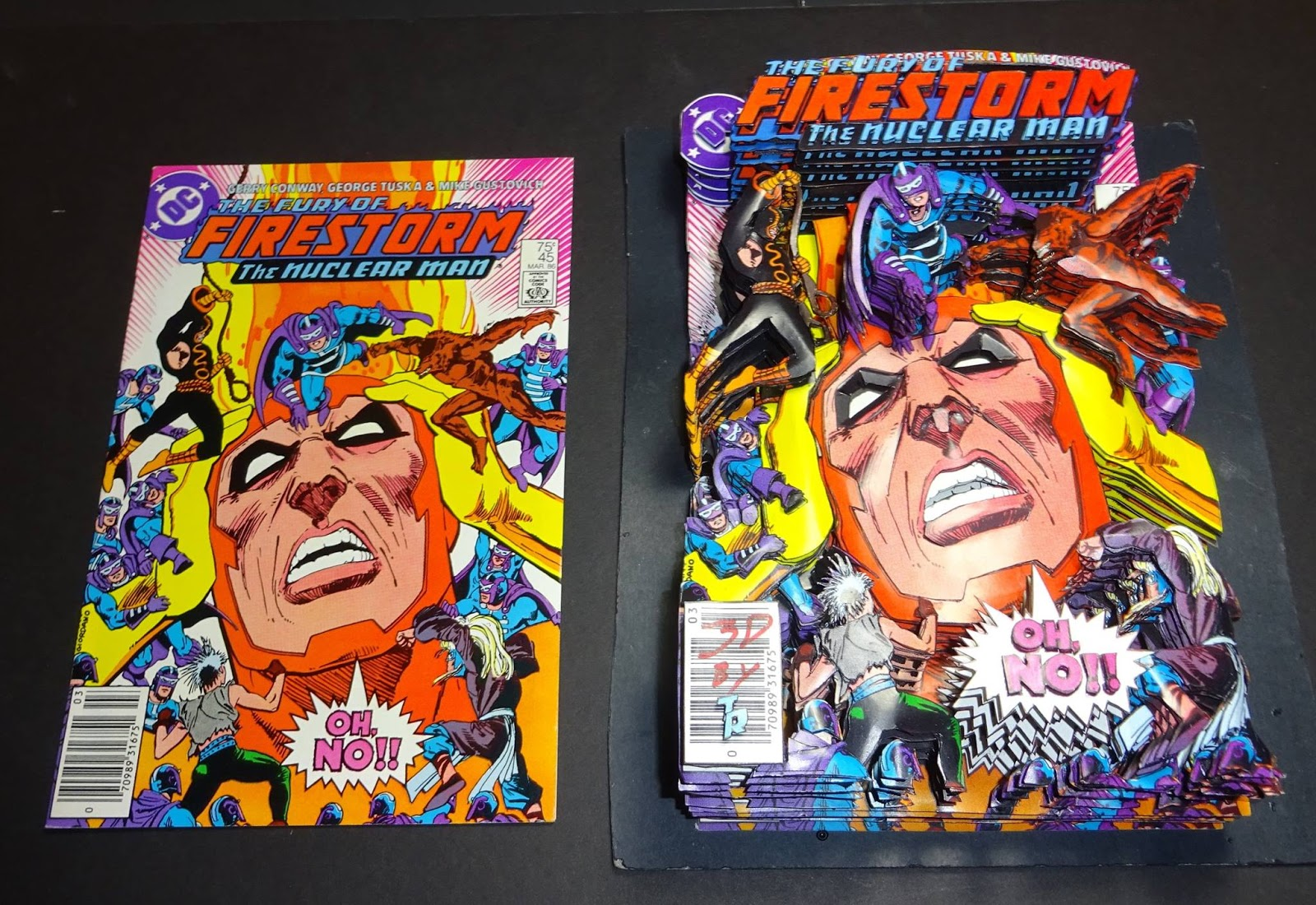 1986 Gerry Conway /& George Tuska The Fury of Firestorm The Nuclear Man No.45