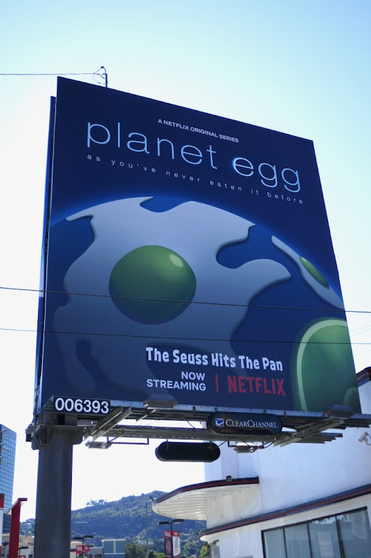 Planet Egg Green Eggs and Ham spoof billboard