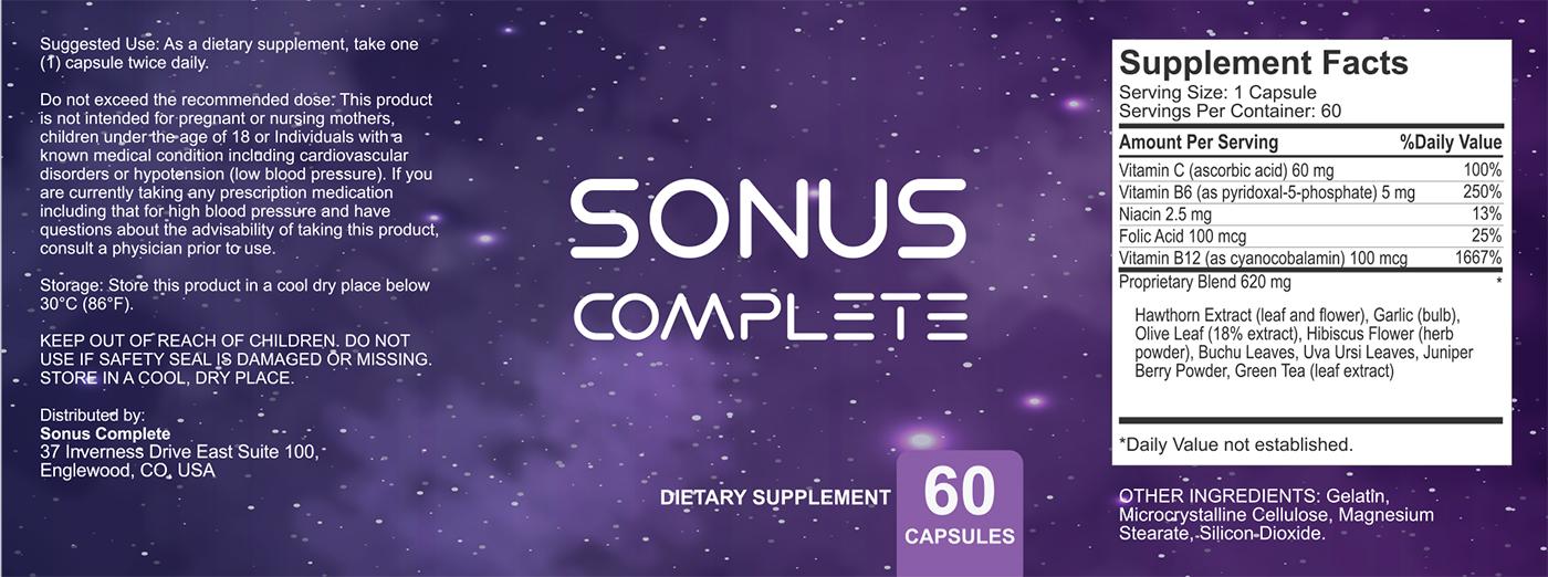sonus complete supplement facts