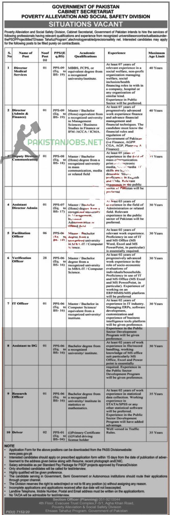 Ehsaas Tahafuz Program Jobs 2021