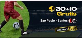 bwin promocion Sao Paolo vs Santos 15 marzo 2020