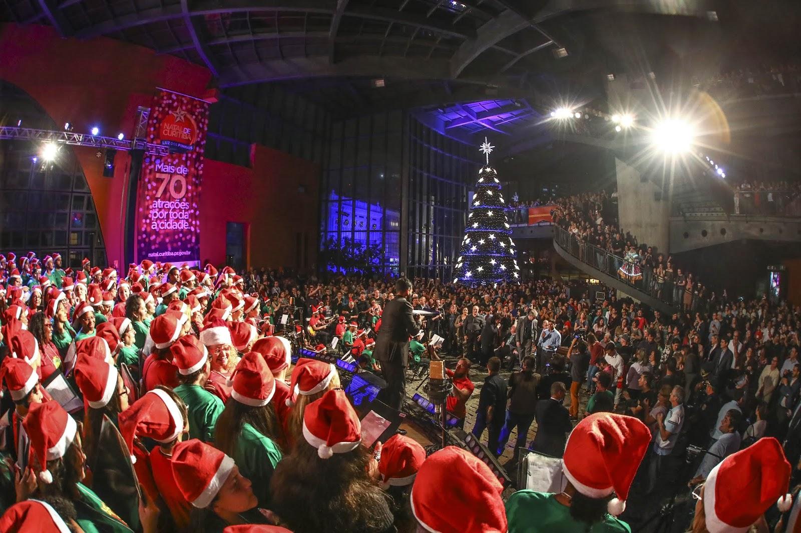 Natal em Curitiba tem 130 atrações, a maioria gratuita