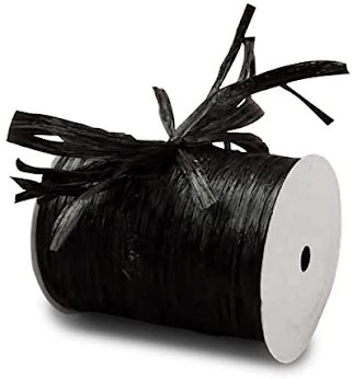 Best Black Raffia Ribbon For Gift Wrap Craft Packaging and Decoration