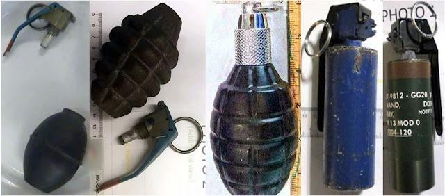 Inert grenades.