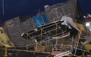 Ventos fortes e chuva causam estragos em Vitória da Conquista