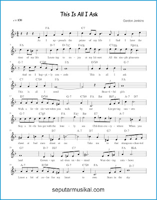 This Is All I Ask 1 chords jazz standar