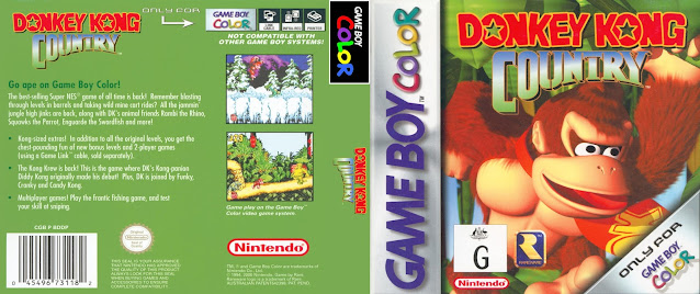 game boy color donkey kong country cover